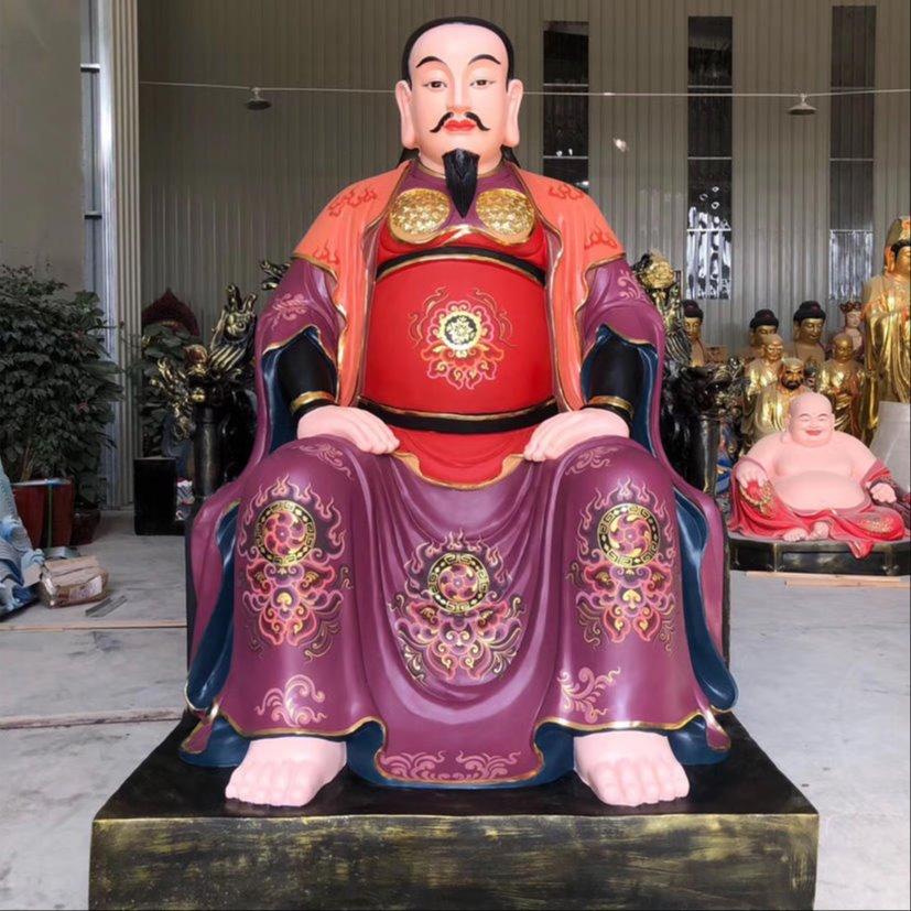 厂家雕塑真武祖师爷 彩绘真武大帝神像