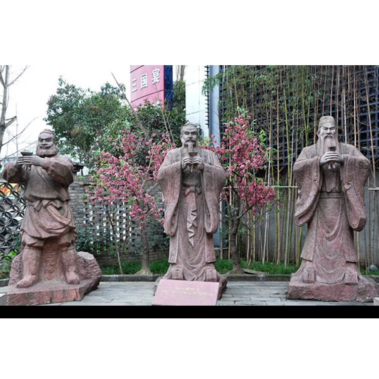 桃园三结义铜雕像 铸铜人物像制作厂家 圣喜玛