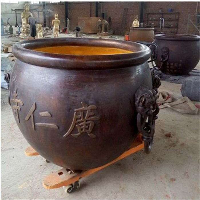 厂家直销风水铜大缸 铜大缸庭院摆件 圣喜玛