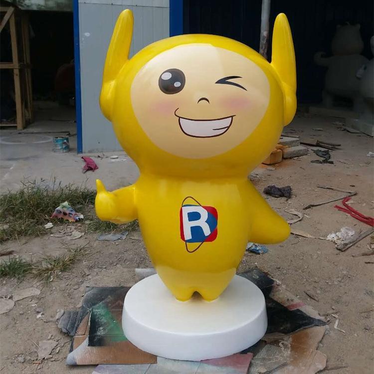 玻璃钢机器人定制 玻璃钢卡通吉祥物雕塑,鹏钊