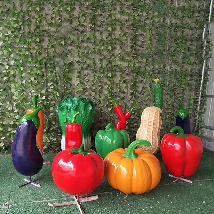 玻璃钢仿真水果雕塑 玻璃钢蔬菜定制价格,鹏钊