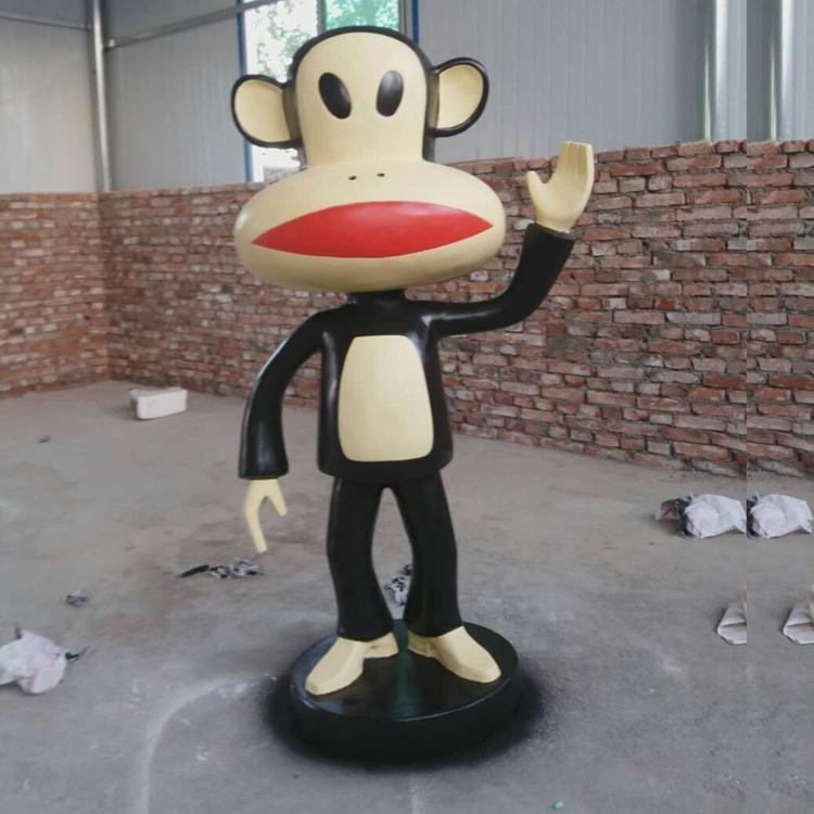 玻璃钢卡通动物雕塑 玻璃钢猴子定制,鹏钊