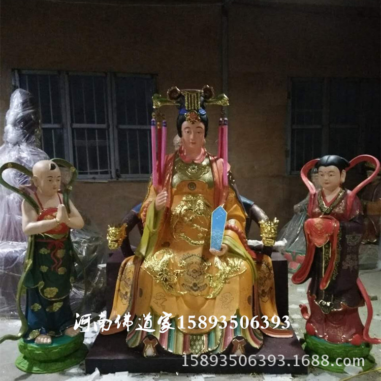 城隍爷佛像制作厂家 河南大型玻璃钢佛像厂供应后土地娘娘 地母示例图3