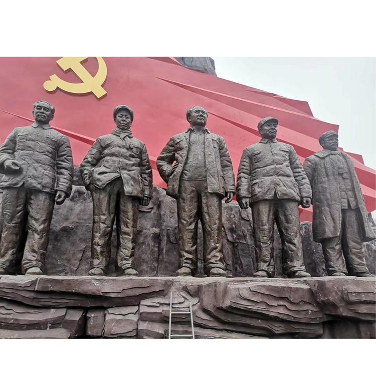 大型铸铜仿铜人物雕塑厂家 红色主题革命伟人铸铜雕塑 圣喜玛