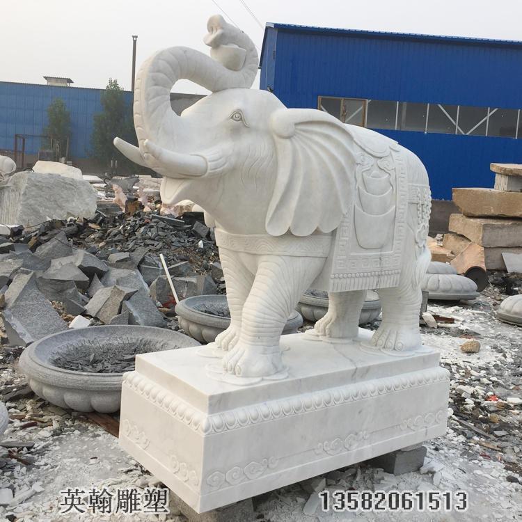 """""""汉白玉石雕大象一对"""