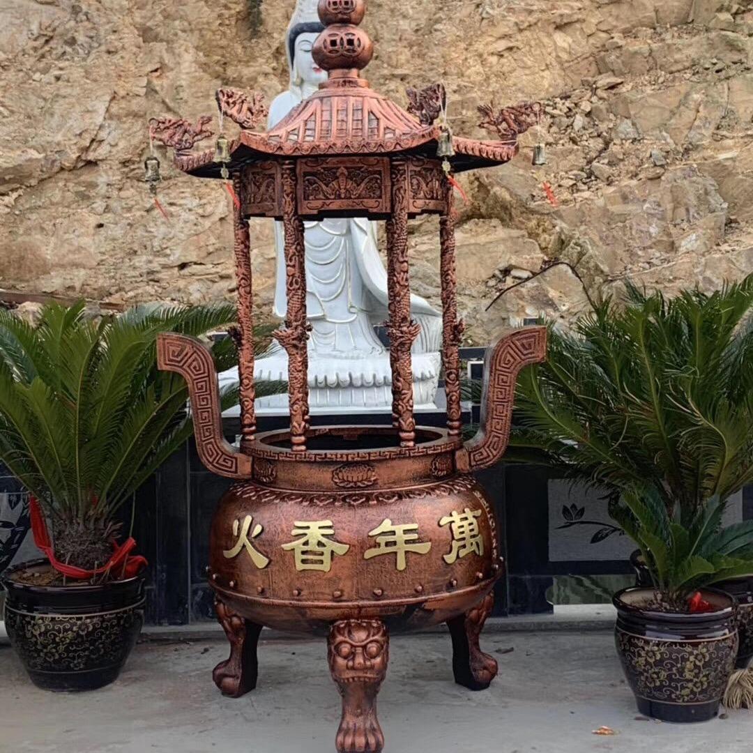 禅相法器供应 禅院圆形香炉 圆形香炉铸造厂