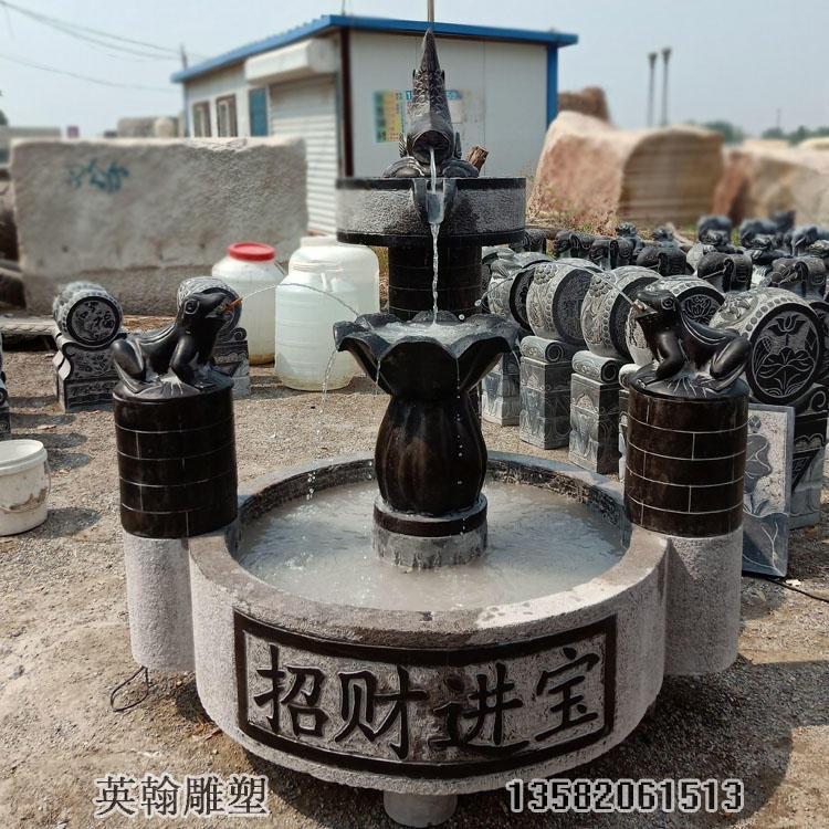 石雕流水摆件 室内流水水池 定做石雕流水摆件
