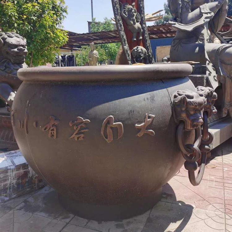 河北纯铜大缸铸造厂 养花养鱼铜大缸 圣喜玛