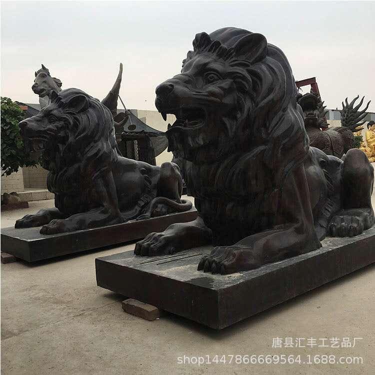 铜狮子定做 大型汇丰铜狮子 圣喜玛