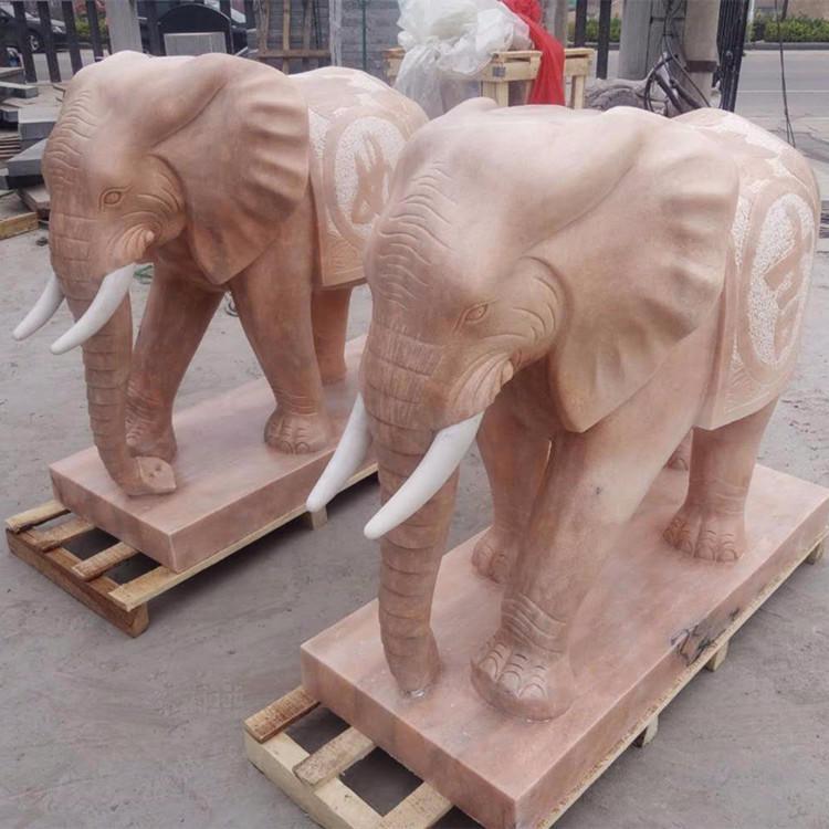 专业生产定制石雕大象 花岗岩石雕象 招财大象 吉祥如意象 动物石雕门口摆件