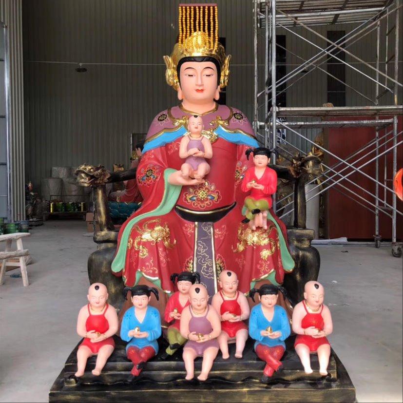 九子娘娘 九子圣母娘娘神像雕塑 厂家定制