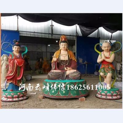 道教神像佛像厂家批发 南海老母神像 玻璃钢彩绘佛像 十二老母1.6米