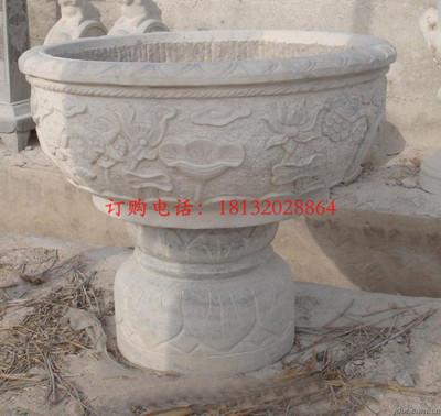 石雕花盆,公园景观雕塑