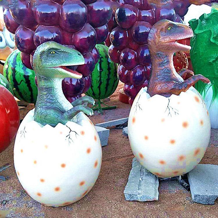 玻璃钢恐龙蛋模型 恐龙雕塑模型 仿真恐龙厂家,鹏钊