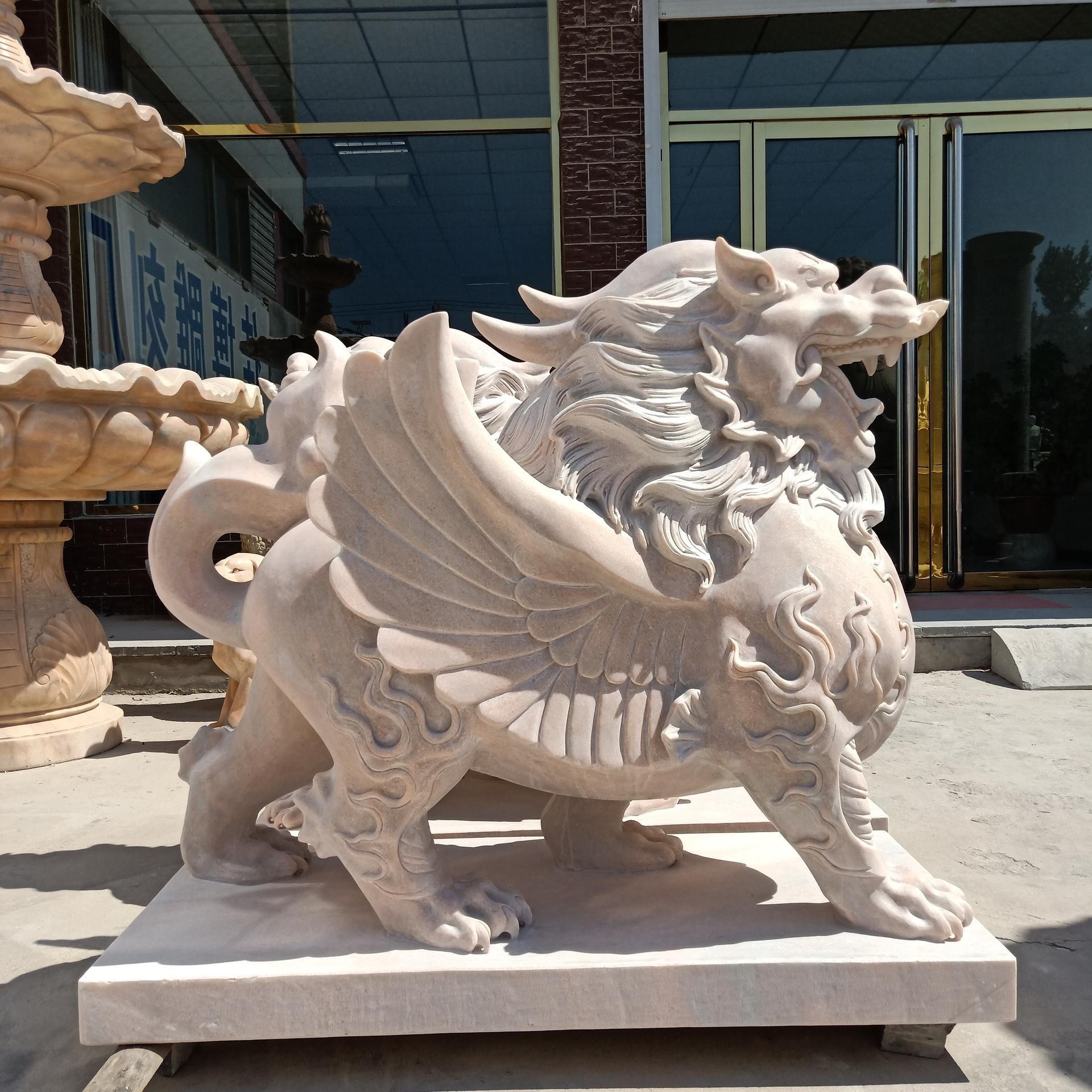 貔貅雕塑 石雕动物神兽麒麟 厂家定做