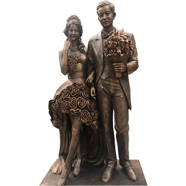 运动人物铜雕塑厂家 小品人物铜雕塑定做 圣喜玛