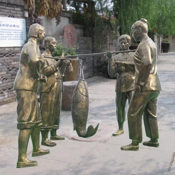 古/现代人物铜雕塑 铸铜人物雕塑 圣喜玛