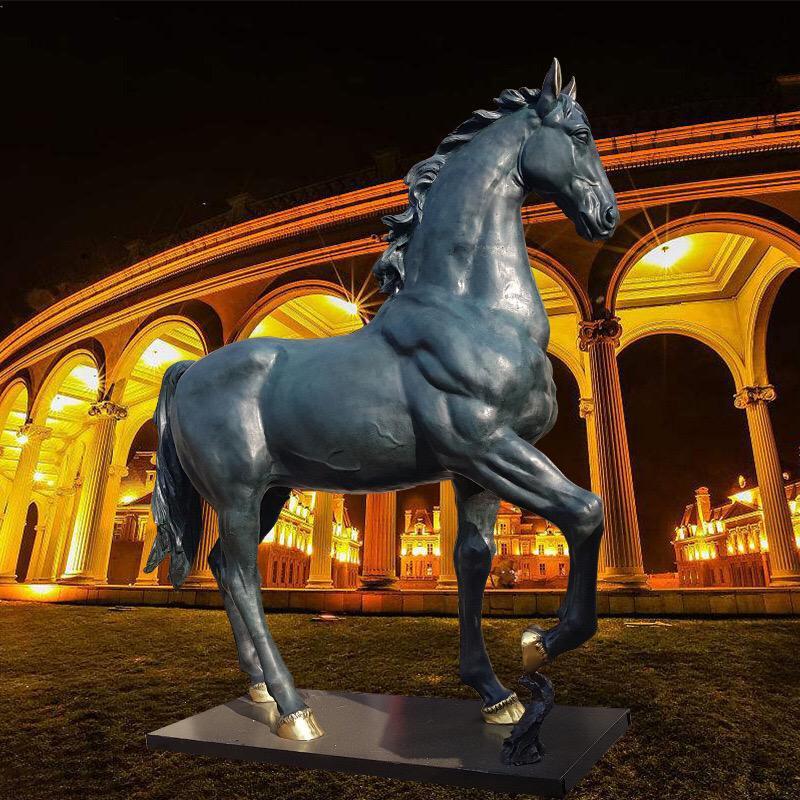 铸铜飞马定做 大型铸铜飞马铸造厂 圣喜玛