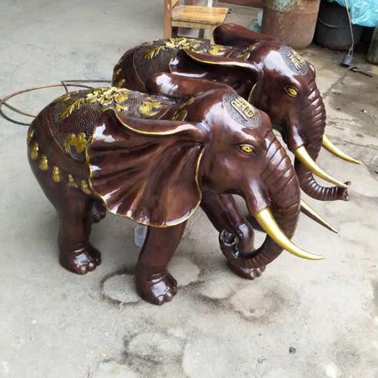 户外喷水铜大象定做  铜雕大象定制 圣喜玛
