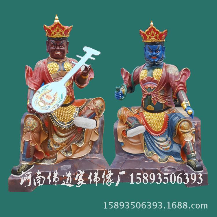 河南四大天王佛像厂家 贴金四大天王 树脂四大天王雕像 寺庙神像示例图3