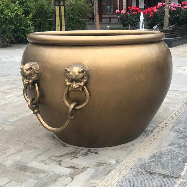 订做铸铜大缸 太平铸铜大缸 圣喜玛