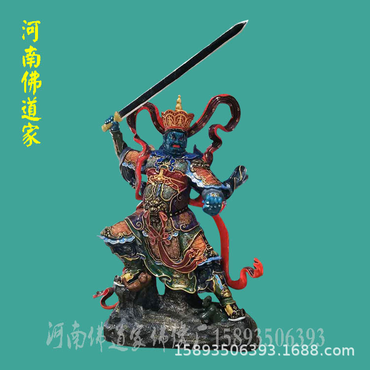 河南神像厂 南阳财神爷佛像价格 五路财神佛像图片 东路财神1.5米示例图1