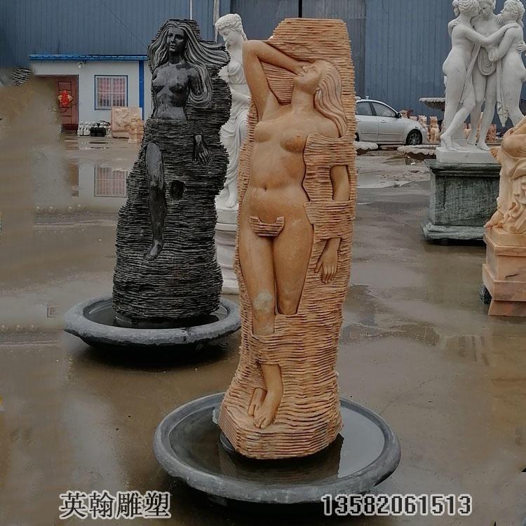 石雕西方人物 晚霞红西方人物女神像 厂家直销定制