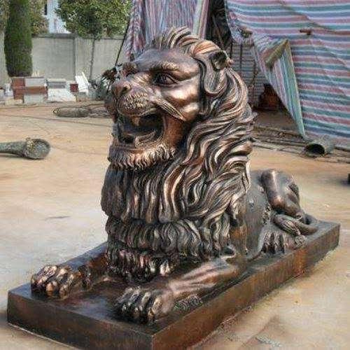 纯铜狮子 黄铜狮子 紫铜狮子 铸铜狮子定制 圣喜玛