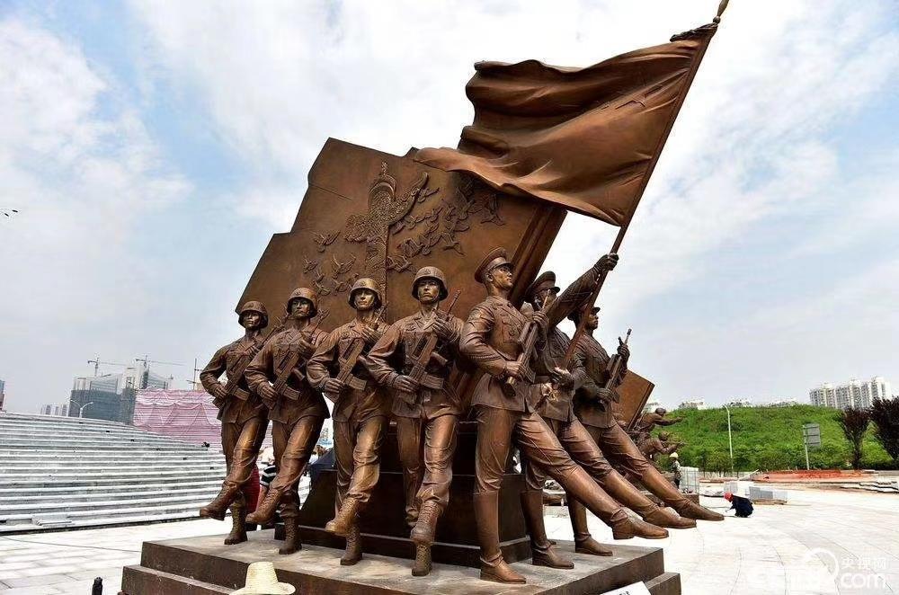 大型红色主题铜雕塑像 延安杏园广场园林景观建筑摆件 圣喜玛