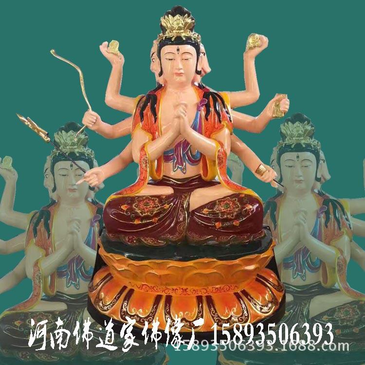 河南佛道家佛像生产斗母元君佛像 斗姆娘娘 斗姥 极彩玻璃钢神像示例图5