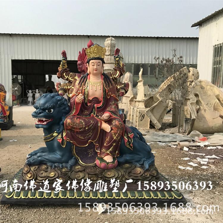厂家直销树脂佛像 菩贤菩萨像1.8米 八大守护神之文殊菩萨像示例图1