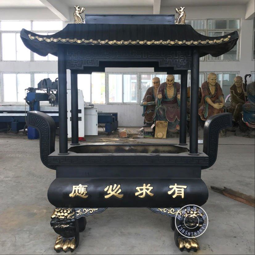 禅相法器雕塑 寺庙铜香炉 长方形铜香炉