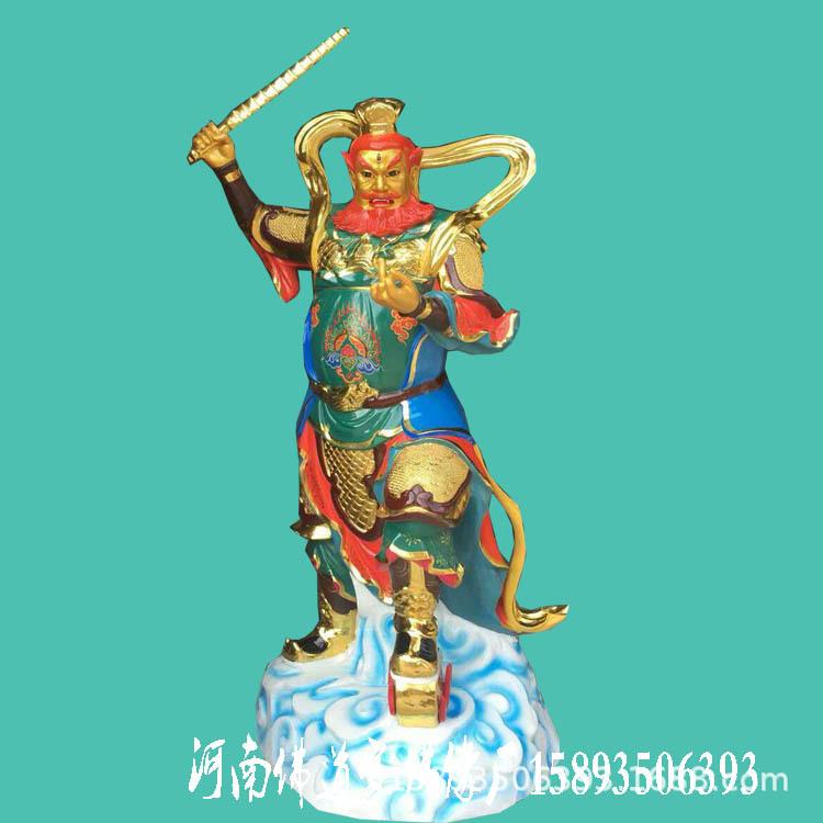河南大型玻璃钢佛像厂家 道教神像 王灵官 王天君树脂贴金彩绘示例图1