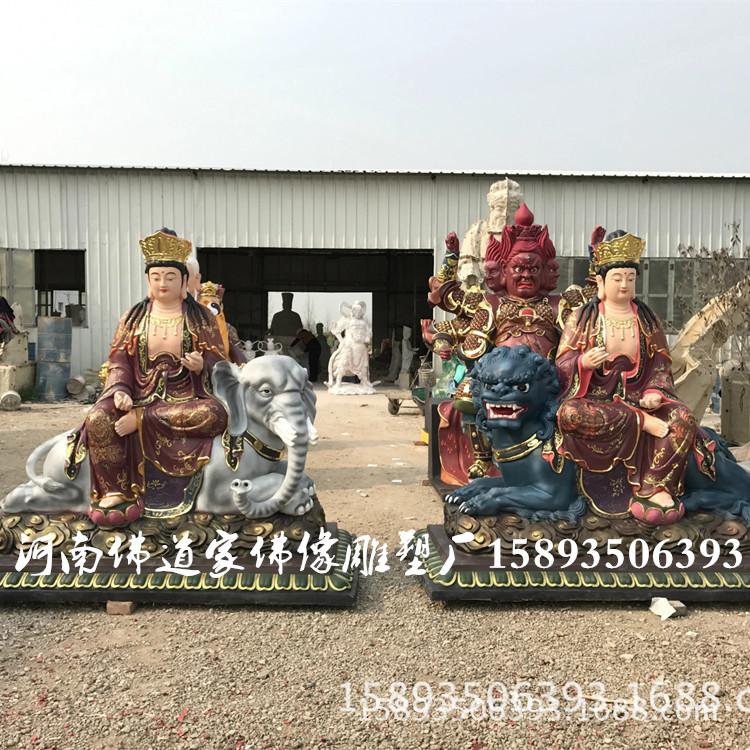 厂家直销树脂佛像 菩贤菩萨像1.8米 八大守护神之文殊菩萨像示例图3