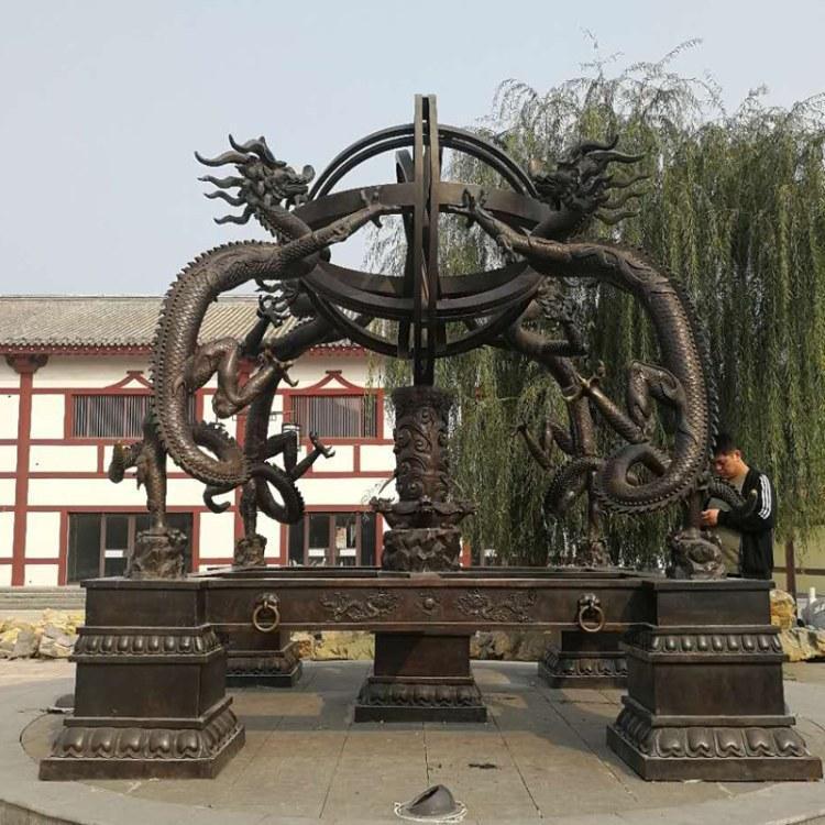 仿古纯铜工艺品浑天仪 广场纯铜浑天仪定做 圣喜玛