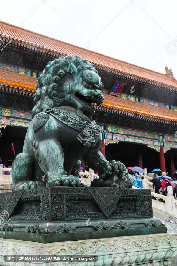 镇宅铜狮子 铸铜狮子雕塑 支持来图定制 圣喜玛