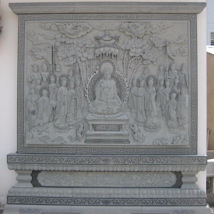 厂家直销汉白玉大理石雕刻 宗教佛像人物寺庙浮雕 石雕观音佛像浮雕文化墙 仿古做旧浮雕 古代人物佛像影壁摆件