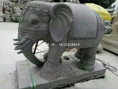 青石大象雕塑 门口石雕大象