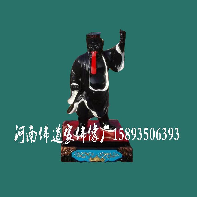 厂家直销 木雕玻璃钢树脂佛像 寺庙户外佛像摆件 黑白无常神像示例图2