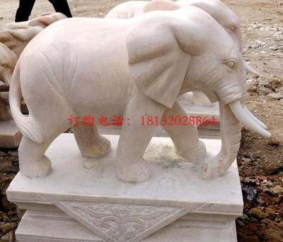 石雕大象,公园动物石雕 动物石雕