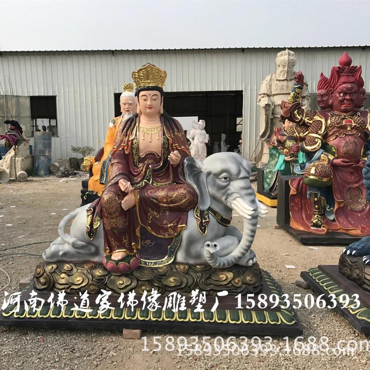 厂家直销树脂佛像 菩贤菩萨像1.8米 八大守护神之文殊菩萨像示例图2