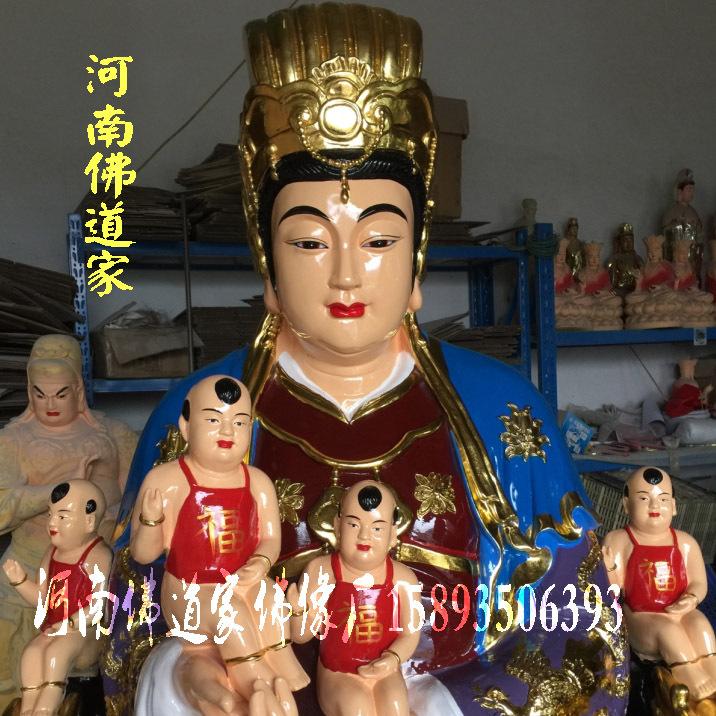 河南佛像雕塑厂 桃花圣母佛像图片 金花教主神像 九龙圣母佛道家示例图5