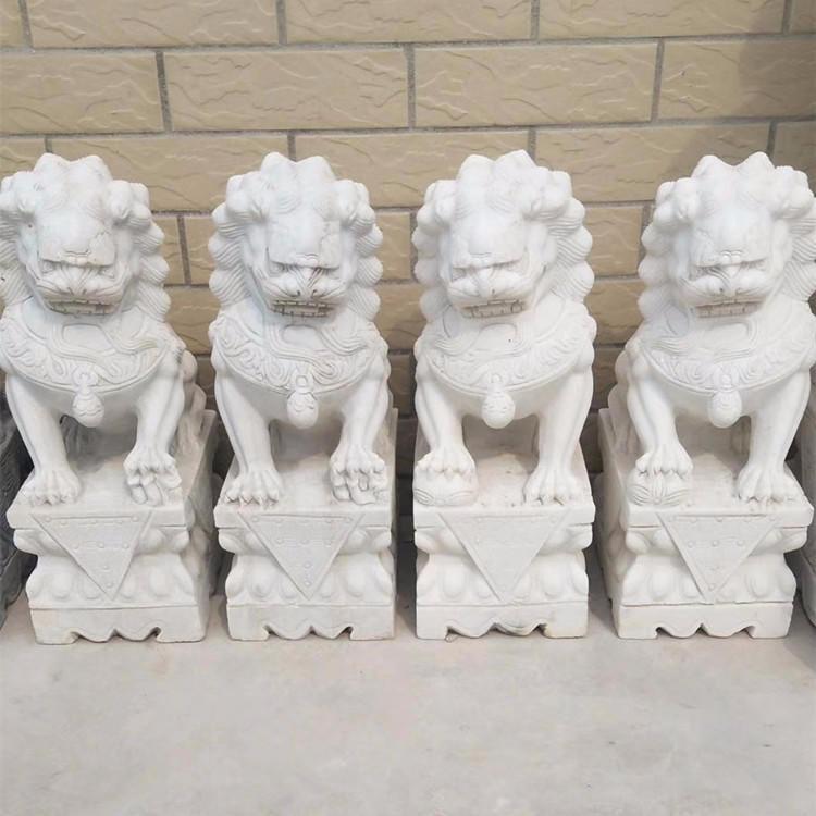 厂家直销大理石小狮子 墓地祠堂家用石雕小狮子 青石狮子厂家直销 曲阳石雕狮子批发