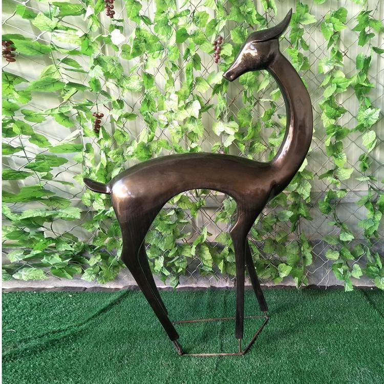 玻璃钢鹿雕塑定制价格 园林景观抽象雕塑厂家,鹏钊