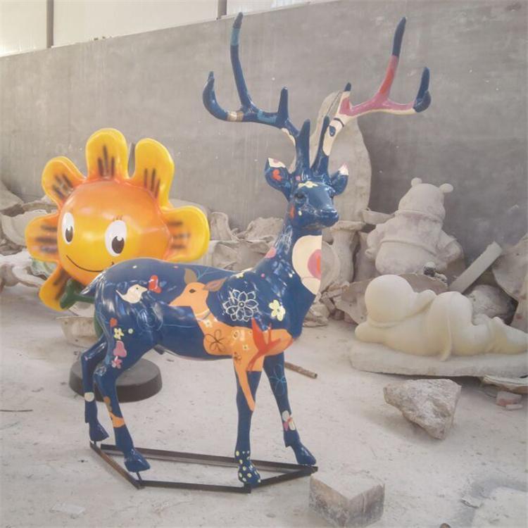 玻璃钢鹿 玻璃钢梅花鹿 园林景观雕塑,鹏钊