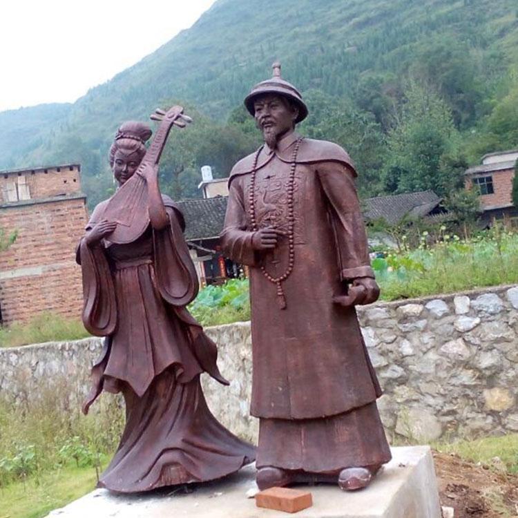 玻璃钢历史名人雕塑 玻璃钢地方人物雕塑 校园读书人物定制,鹏钊