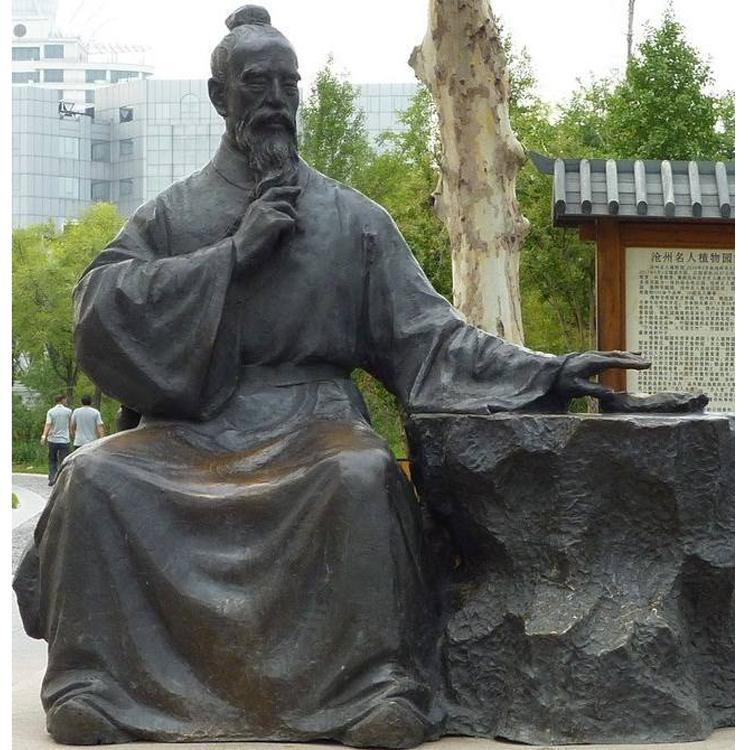 园林景观人物铜雕 名人名医人物雕塑定制 圣喜玛
