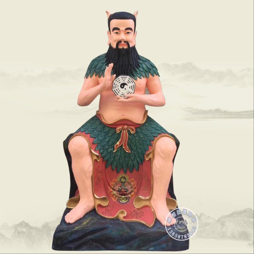道教三皇爷神像 神农炎帝神像 神像雕塑厂家定制