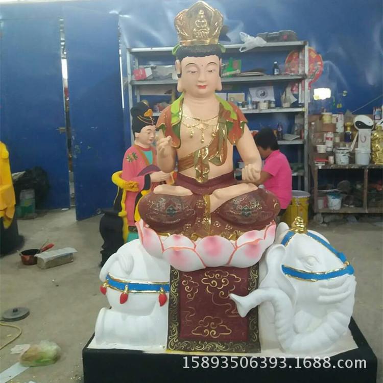 河南佛道家订制佛教四大菩萨像1.6米 文殊老母 菩贤老母图片示例图1