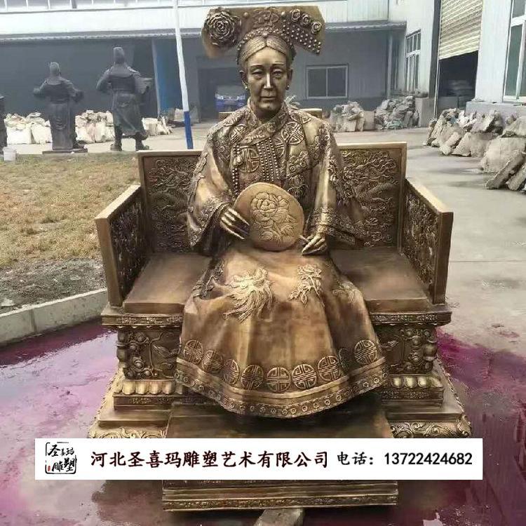 铸造出售康熙人物雕塑 古代人物铸铜雕塑 圣喜玛
